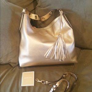 700068ea8754 Michael Kors Bags - Michael Kors Brooklyn Large Metallic leather